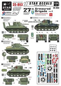 Star-Decals-1-35-Br-27th-Arm-Bde-D-Day-Normandy-2-ShermanIII-FireflyVc-35863