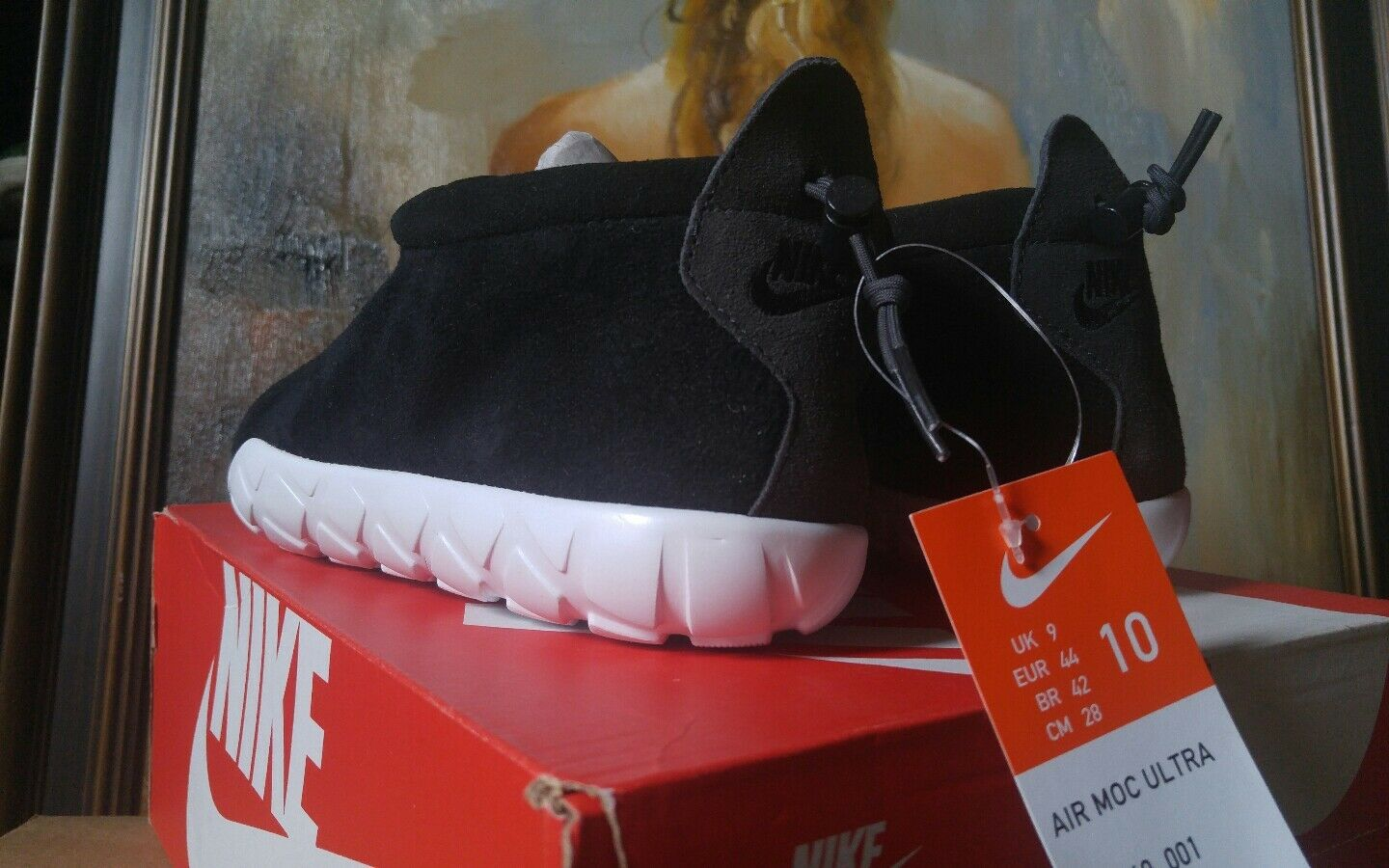 the latest 1e8c2 dcf50 Nike Air Moc Ultra Size 10 Black Anthracite White 862440 001 RARE