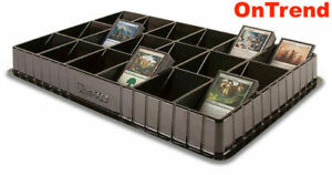 ULTRA-PRO-BLACK-Trading-Card-Sorting-amp-Dealer-Storage-Tray-18-Slots-Compartments
