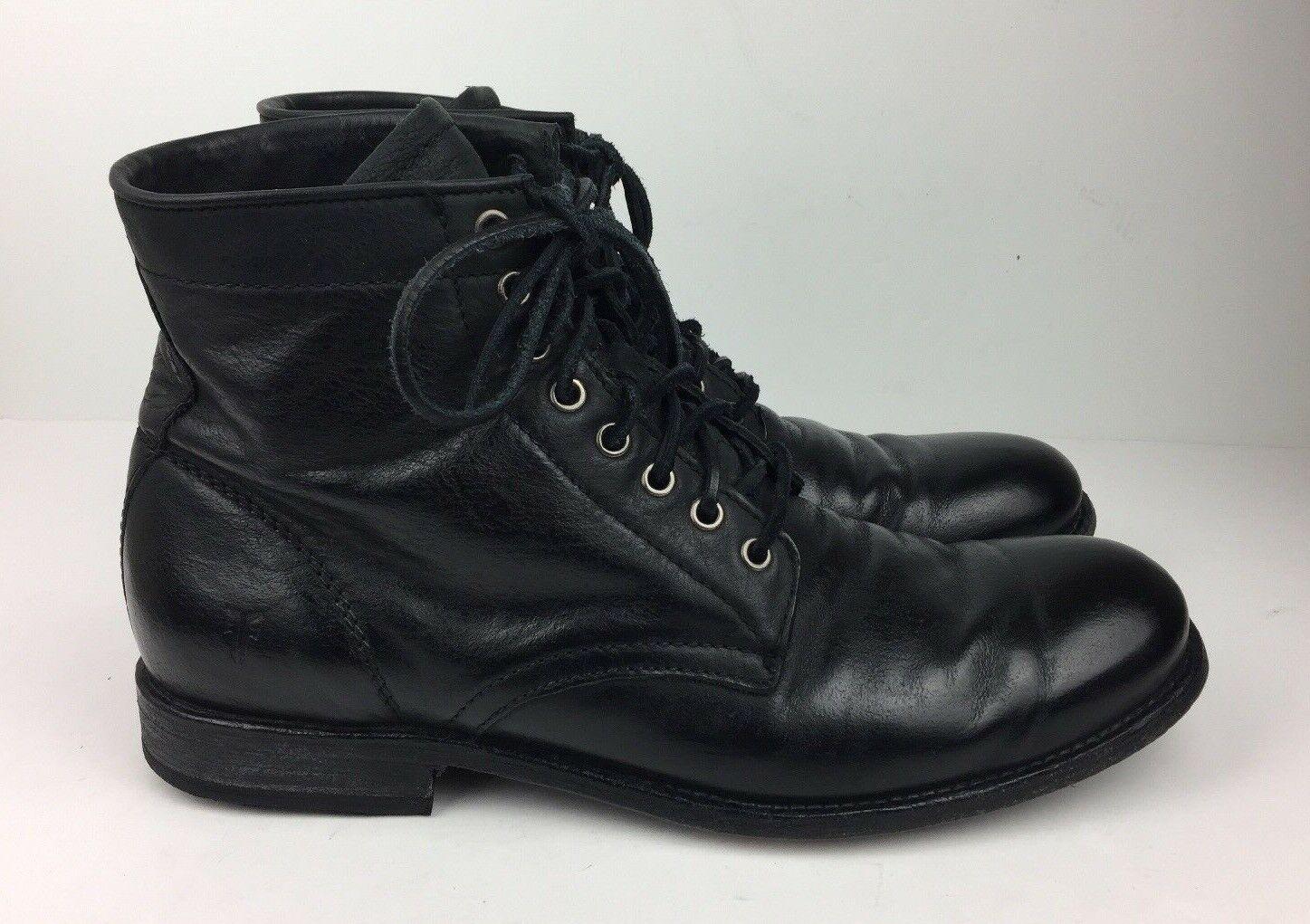 Frye  Tyler  Zapatos Para Hombre botas al Tobillo Chukka Negro Lavado a La Piedra De Cuero D