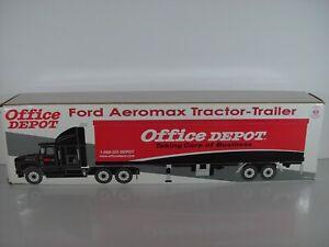 2001 Crown Premium Office Depot Tractor Trailer Hauler Truck Mint in Box