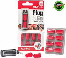 Alpine Plug & Go Motorcycling Foam Ear Plugs - 5 Pairs and Container