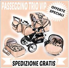 Passeggino trio VIP passeggino+navicella+ovetto!SPEDIZIONE GRATIS!Vari colori