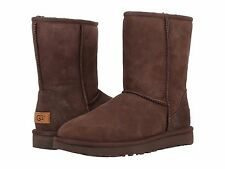 Women's Shoes UGG CLASSIC SHORT II Mid-Calf Sheepskin Boots 1016223 CHOCOLATE