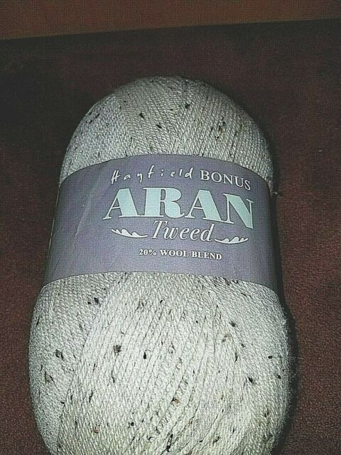Hayfield Bonus Aran Tweed 20/%Wool Blend Knitting and Crochet Yarn Value 400g