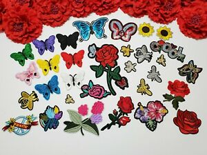 3pc//set HOLLYWOOD Patch Flower patches Sunflower patch Iron on Letter patch