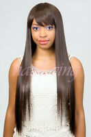 Kaka - Bohemian Diana Pure Natural Wig, Long Straight With Bangs Style