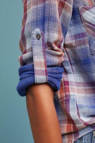 Camicia Motivo Stone Di Nuovo Down Plaid amp; Blu Rondine Szm Button Coda Cloth A wqF78xBF