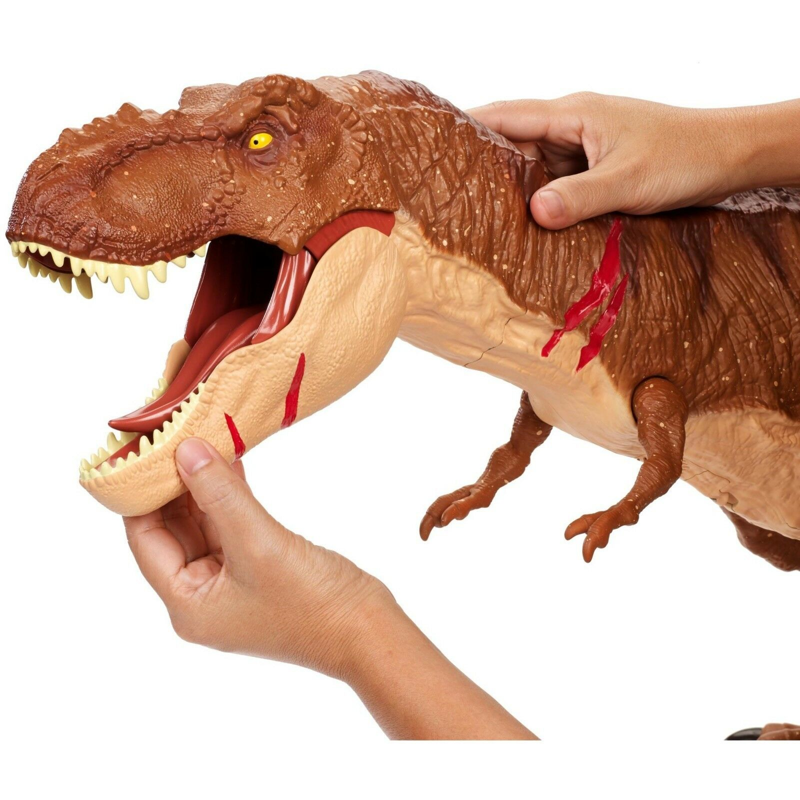 Dino - welt im kampf gegen super - gigantische tyrannosaurus t - rex große dinosaurier - figur