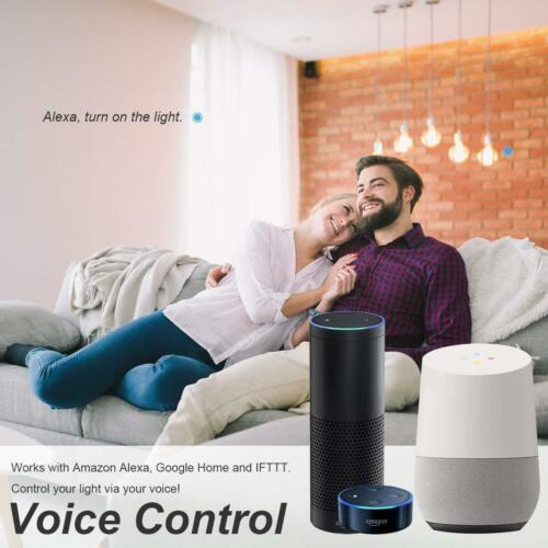 Works with Alexa Google Home 2 pack LOHAS Smart WiFi Candle E14SES Dimmable