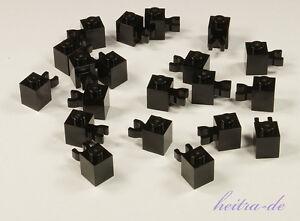 LEGO-20-x-Stein-1x1-schwarz-mit-Clip-waagerecht-Halter-30241-NEUWARE