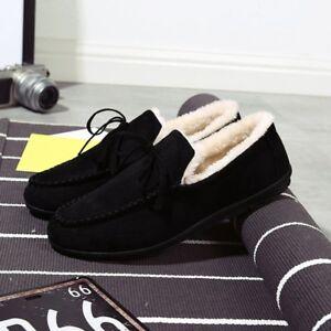Hommes-Casual-Hiver-Chaussures-Basses-Bottes-De-Neige-Coton-a-l-039-interieur-de-garder-au-chaud