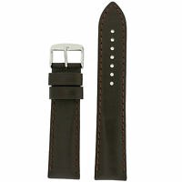 Tech Swiss Lea1910 Xl Watch Band Brown Genuine Leather Calfskin