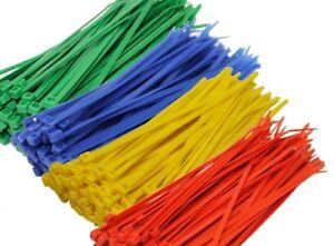 Nylon-Cable-Ties-Nylon-Zip-Tie-Red-Blue-Green-Yellow-White-2-5mm-x-100mm