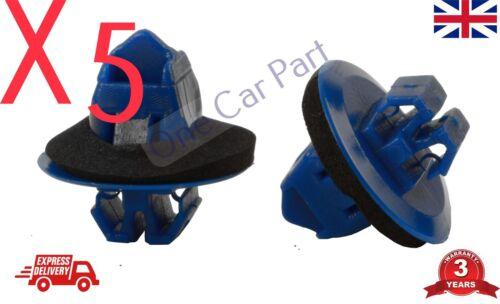 5 x Clip per TOYOTA LAND CRUISER PRADO Lato Modanatura Passaruota Finiture in plastica