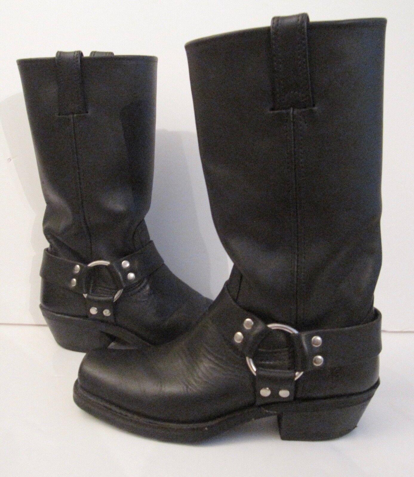 Para Mujeres Cuero Negro Negro Negro Frye ARNÉS's botas 7 tendencias rojoucido 071215  alto descuento