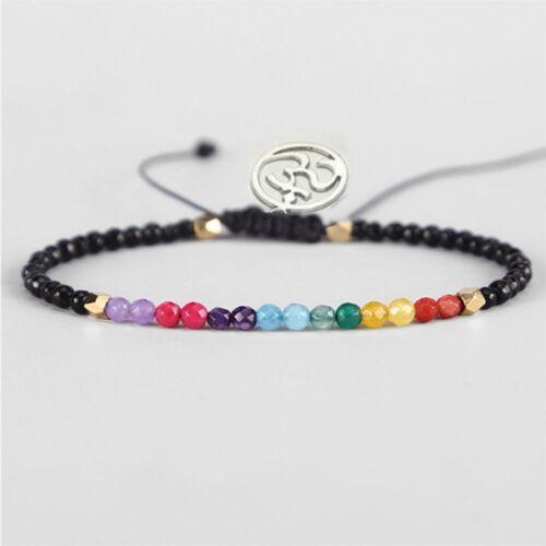 Cristal Réglable Lucky Pierre REIKI de perles perles 12 Constellation Bracelet