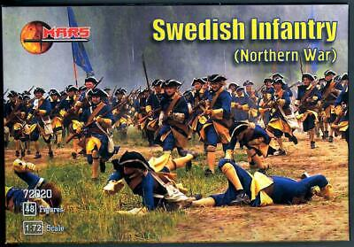 Mars Figures 1//72 SWEDISH INFANTRY Great Northern War Figure Set