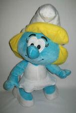 "2010 Smurfs Smurfette Girl 14"" Soft Plush Stuffed Toy Nanco Peyo Blue Girl"