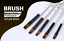 Paint Brush set 12 in one Nylon Hair Watercolor for Learning Wooden Handle Oil A