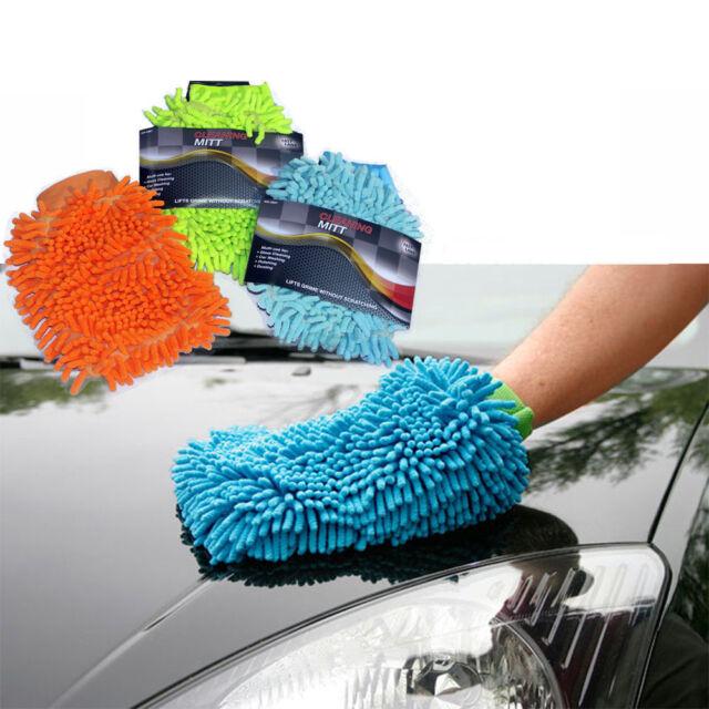 MICRO FIBRE CAR WASH WASHING SHAMPOO CLEANING MITT GLOVE POLISHING CLOTH DUSTER