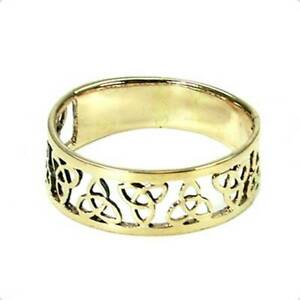 Aggressiv Keltischer Triquetta Ring Bronze Symbol Folklore Schmuck - Neu Modische Muster