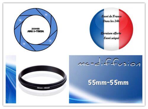 Bague Anneau adaptateur pour Objectif Couplage Mâle-Mâle 55mm—55mm