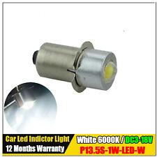 1X P13.5S PR2 PR3 PR4 1W Sopt Torch indicator led light White 3V 4.5V 6V 12V 18V