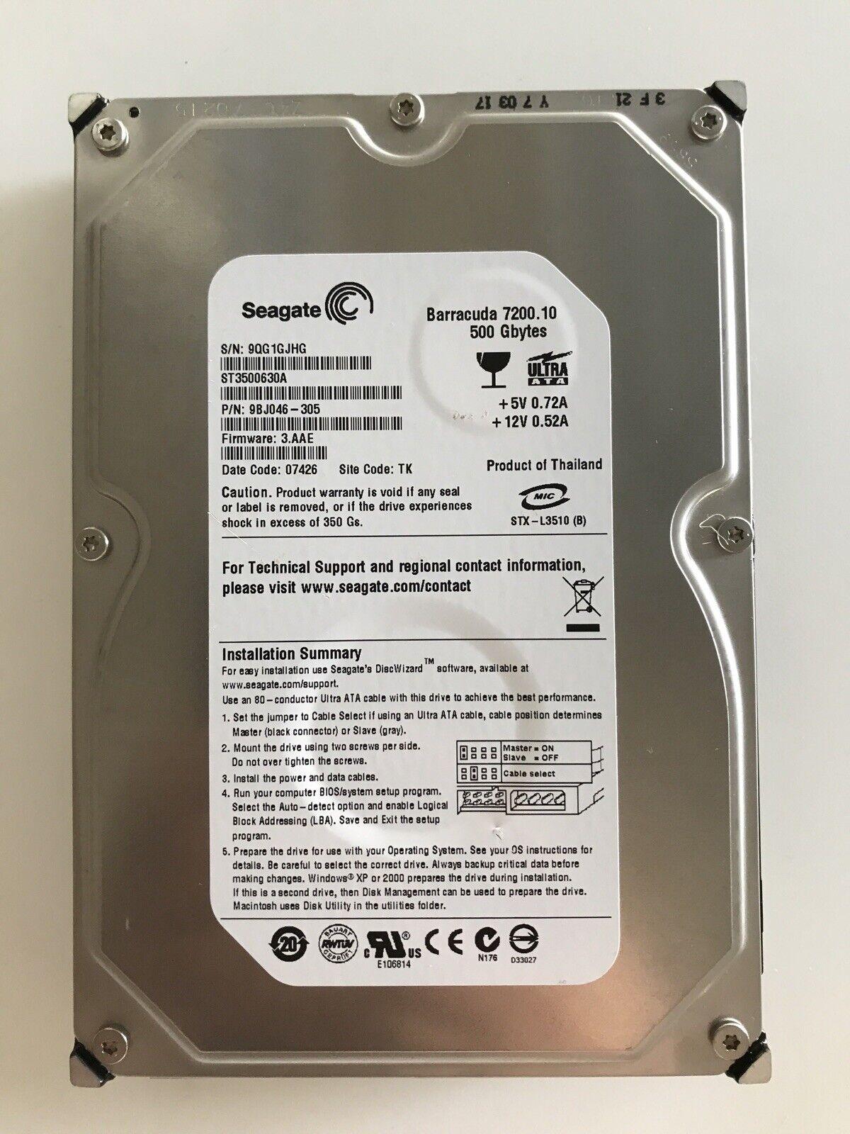 ST3400620AS internal SATA-300-7200 rpm 3.5 Seagate Barracuda 400 GB buffer: 16 MB 7200.10 Hard drive