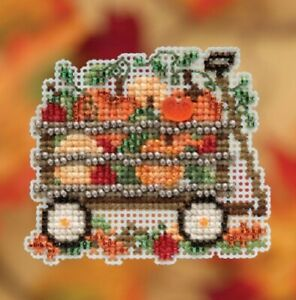Harvest-Wagon-Autumn-Harvest-2019-Mill-Hill-Counted-Glass-Bead-Kit-w-Treasure