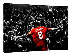 Steven Gerrard Liverpool Imprimé Photo Sur Encadrée Toile Mural Art Maison Décoration-afficher Le Titre D'origine