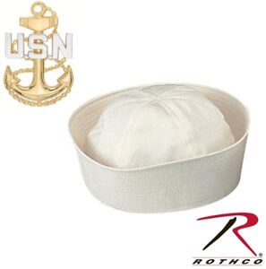 fdccb85829c White Military US Navy Style 100% Cotton Dixie Cup Sailor Hat Rothco ...