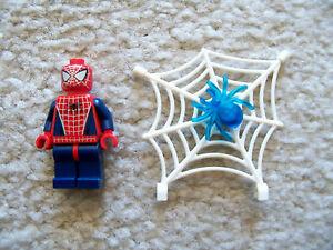 LEGO-Spiderman-Rare-Original-Spider-Man-w-Web-amp-Trans-Blue-Spider