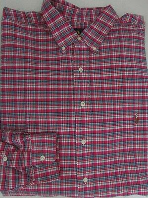 Shirts Nwt Ralph Lauren Casual Button Front Shirt Pink/multi Plaid Tall Size Xlt Delicacies Loved By All
