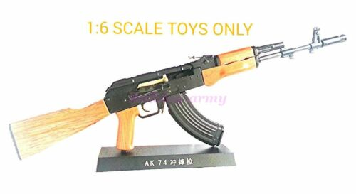 Toy Figure 1:6 Scale Metal Model AK74 Rifle AF-MC0014 For Display Only