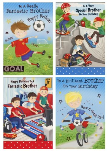 CUTE TO A FANTASTIC BROTHER BIRTHDAY CARD 1ST P&P 4 DESIGNS