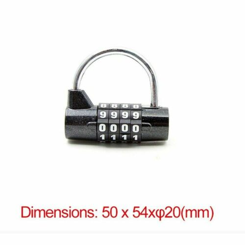 Details about  /Mini Bike Locks 1500mm Fold Backpack 4 Digit Password Combination Cable Padlocks