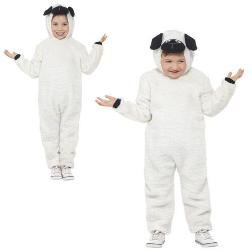 Bambini Ragazzi Ragazze Deluxe lanoso agnello pecore Pasqua Tuta Costume