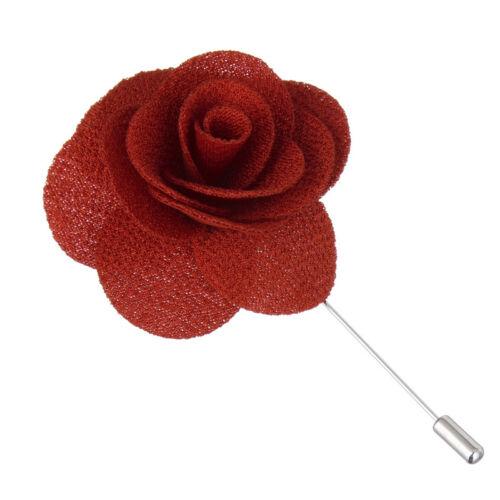 Chic Lapel Flower Daisy Handmade Boutonniere Sticks Brooch Pin Men Accessories