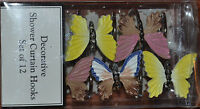 Butterfly12 Resin Shower Curtain Hooksyellowbrownpeachwhitebluenew