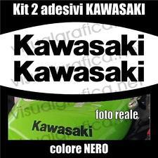 Kit 2 ADESIVI logo KAWASAKI NERI anche per serbatoio Z NINJA