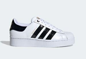 fluido Evento Modernizar  Zapatillas Adidas Superstar audaz W Blanco Negro Brillante FV3336   eBay
