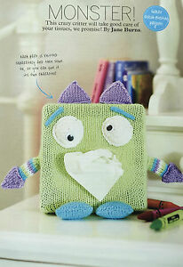 KNITTING PATTERN Monster Character Tissue Box Case Home Decorative Wendy PATTERN - Middlesbrough, Cleveland, United Kingdom - KNITTING PATTERN Monster Character Tissue Box Case Home Decorative Wendy PATTERN - Middlesbrough, Cleveland, United Kingdom