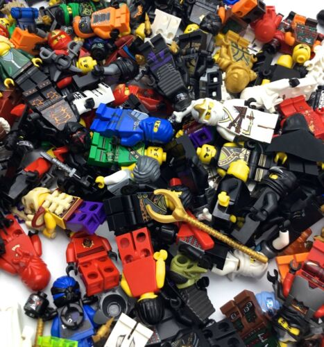 LEGO LOT OF 5 NINJAGO MINIFIGURES RANDOMLY PICKED KAI ZANE JAY NINJA GRAB BAG