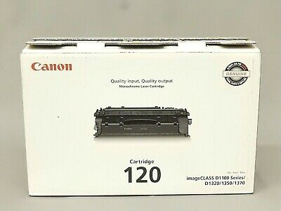 Canon 120 Black Toner Cartridge 2617b001aa Imageclass D1100 Genuine New Open Box