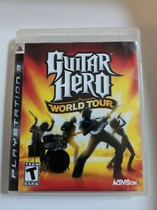 Guitar Hero: World Tour Game Sony PlayStation 3 PS3 Complete in Box CIB