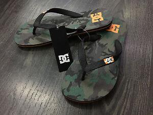Dc-infradito-gomma-Spray-green-camo-orange-sandals-mare-piscina