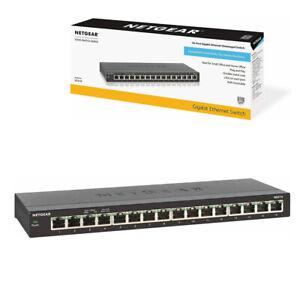 NETGEAR-16-Port-GS316-Gigabit-Ethernet-Network-Switch-Hub-Internet-Splitter
