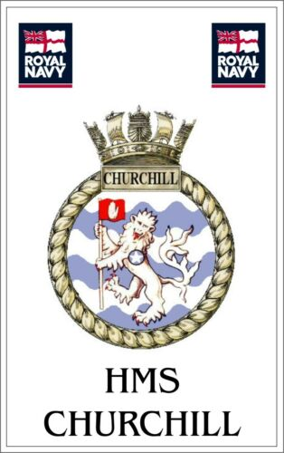 HMS Churchill Royal Navy crested Fridge Magnet