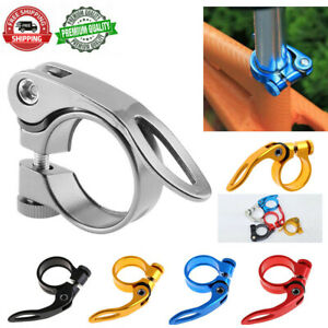 31-8mm-MTB-Bike-Cycling-Saddle-Seat-Post-Seatpost-Clamp-Quick-Release-QR-Style